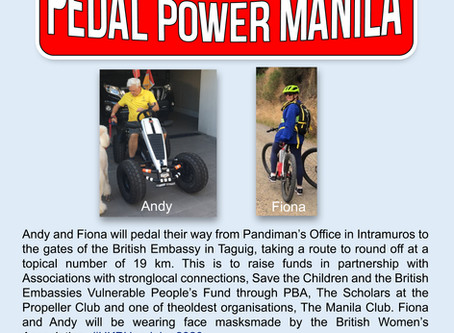 Fun Raiser AND Fund Raiser - Pandiman #UKPHpedalon2020