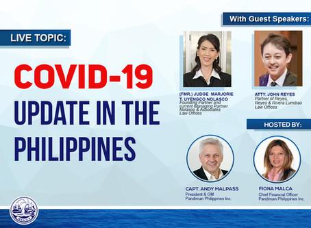 Pandiman Philippines Inc., Webinar - Covid19 Update in the Philippines