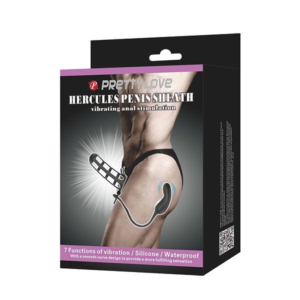 Capa Peniana Com Estimulador de Prostata Vibratorio Modelo 1 bi 026231 Pretty Love