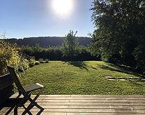 vue sur la collinne et le jardin