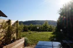 vue de la terrasse gite