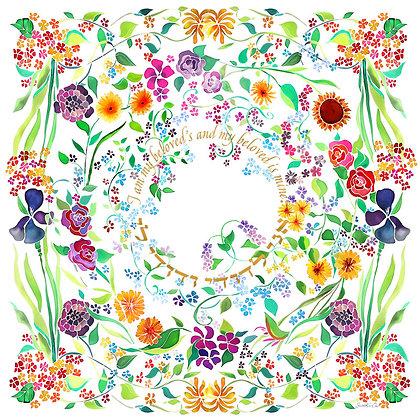 Silk-painted Garden Huppah
