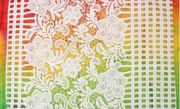 Rainbow white lace