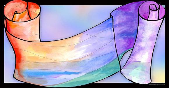 Torah in watercolor