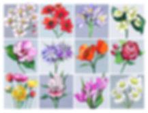Needlepoint flowers of Israel Holy Land