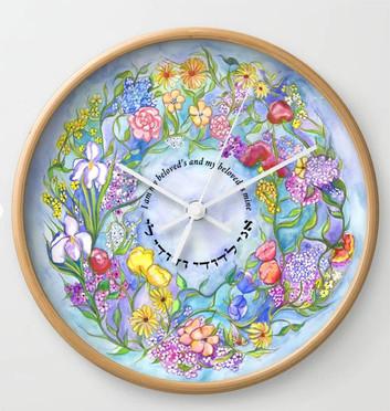 Ani L'dodi clock, flowers