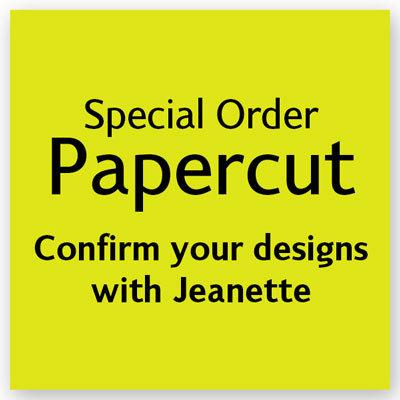 Special (Minimum Order) Papercut