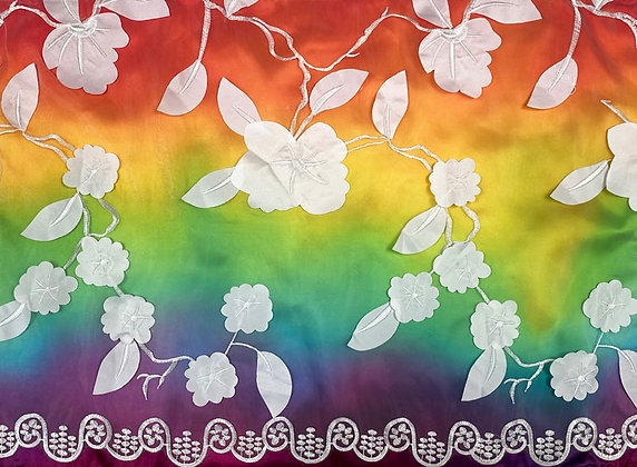 Flowers on Bright Rainbow  009