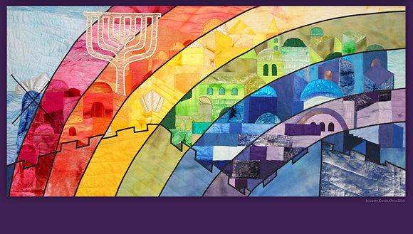 Jerusalem, rainbow