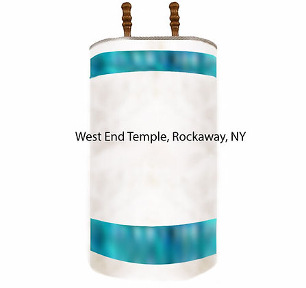 Balance for West End Temple Torah covers