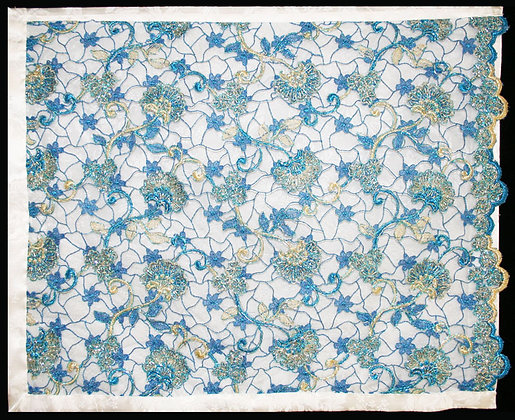 Challah Cover - India Blue Lace