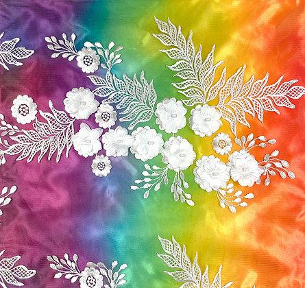 3D Flowers on Rainbow