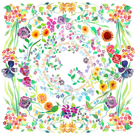 Flowers appear on the earth