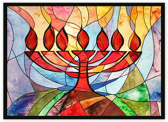 "Menorah, Light Unto the Nations - 52"" x 72"""
