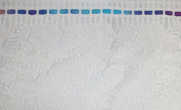 White Lace with Blue