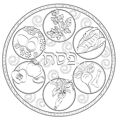 Color your own Seder Plate