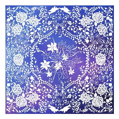 Dark Blue and Purple Papercut Huppah