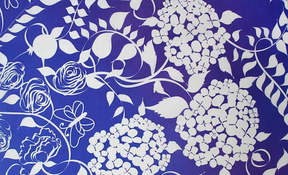 Papercut on blue