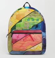 Rainbow over Jerusalem backpack