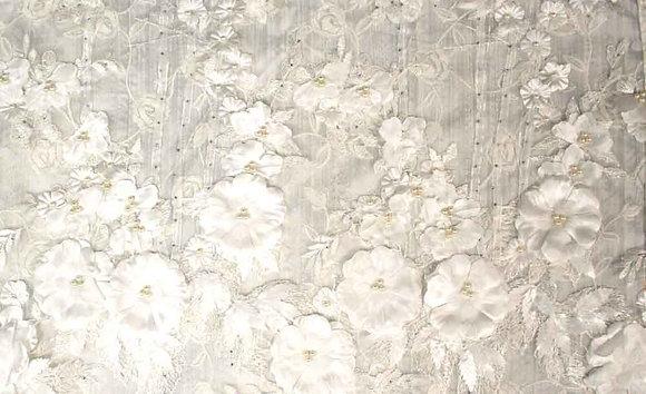 Beaded white flowers