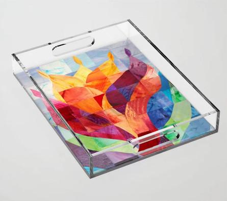 Fire acrylic tray