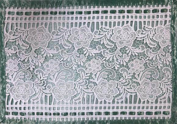 Green organza, lace