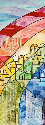 """Jerusalem Rainbow, 50 x 17"""""""