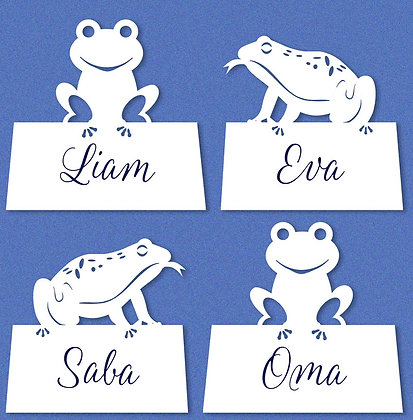 Passover Frog Placecards