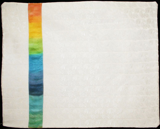 Challah Cover - White with Rainbow
