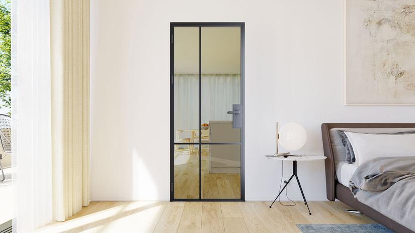 Дизайнерские межкомнатные двери из стали | interior steel doors