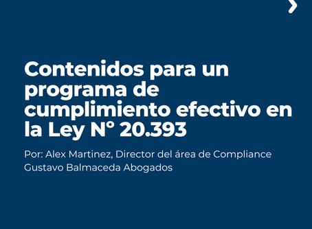 Contenidos para un programa de cumplimiento efectivo en la Ley Nº 20.393