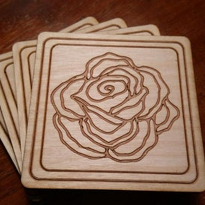 Make an Engraved Coaster using a Laser Cutter