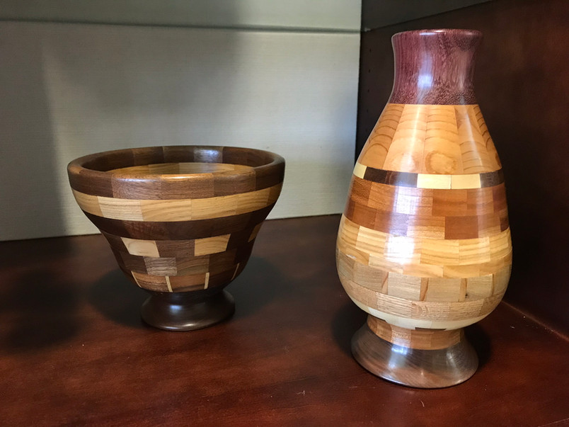 Turned Bowl & Vase by Bill