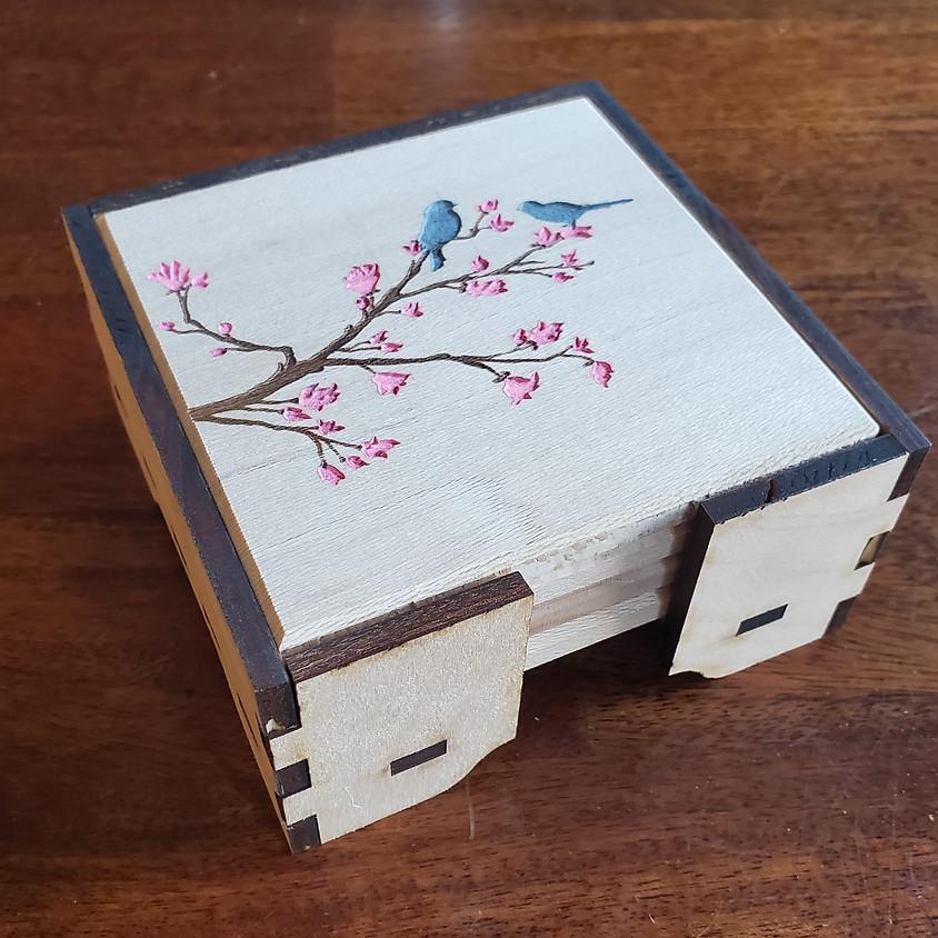 Make Engraved Coasters on  Laser Cutter