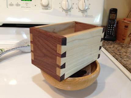 Beautiful hand made dovetail box by Bill