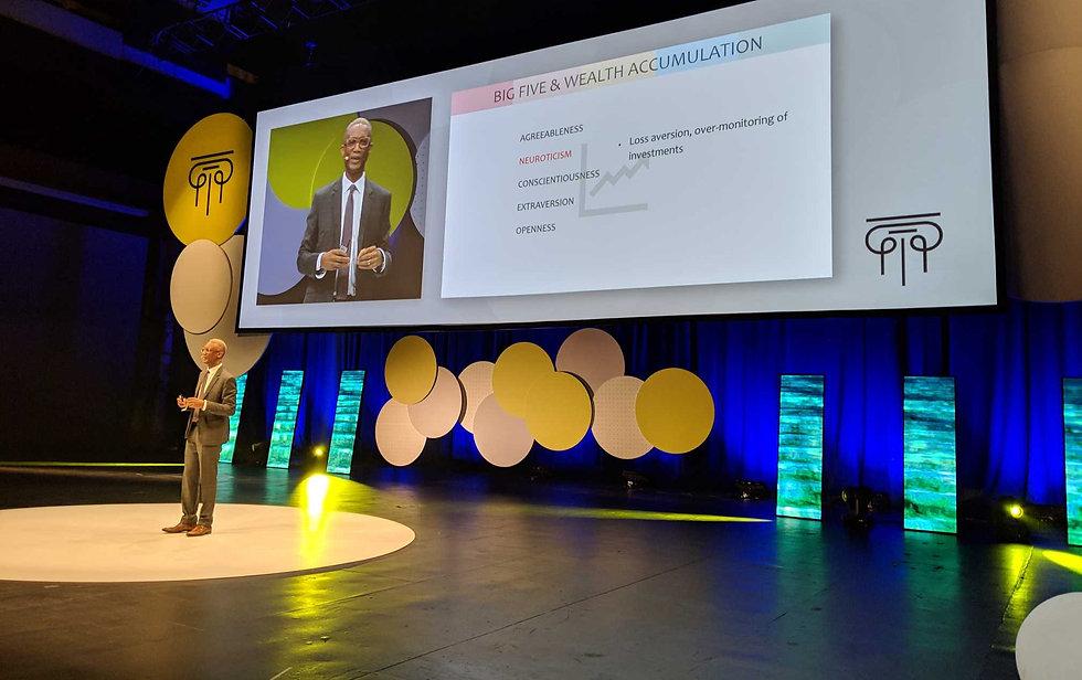Herman Brodie speaking at the Portfolio Construction Forum Finology Summit 2019
