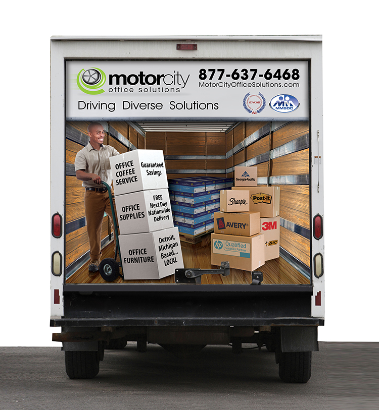 Motor City Truck Wrap Rear Design