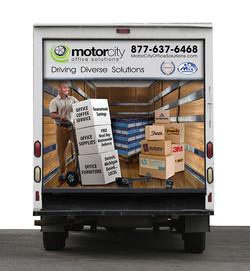Motor City Truck Wrap Rear Design