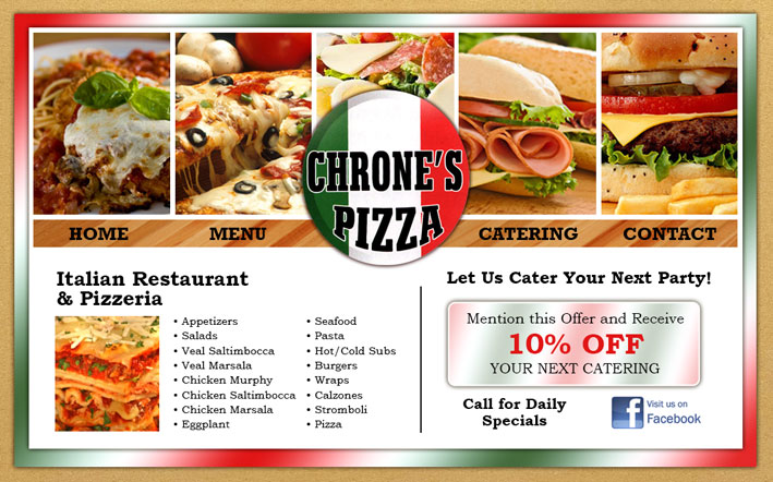 Chrone's Pizza Website Design