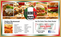Chrone's Pizza Website Design