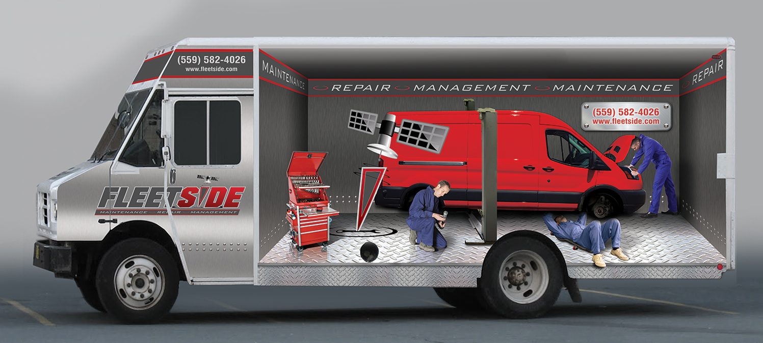 Fleetside Maintenance Van Wrap Desig