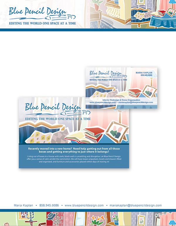 Letterhead, Postcard & Business Card
