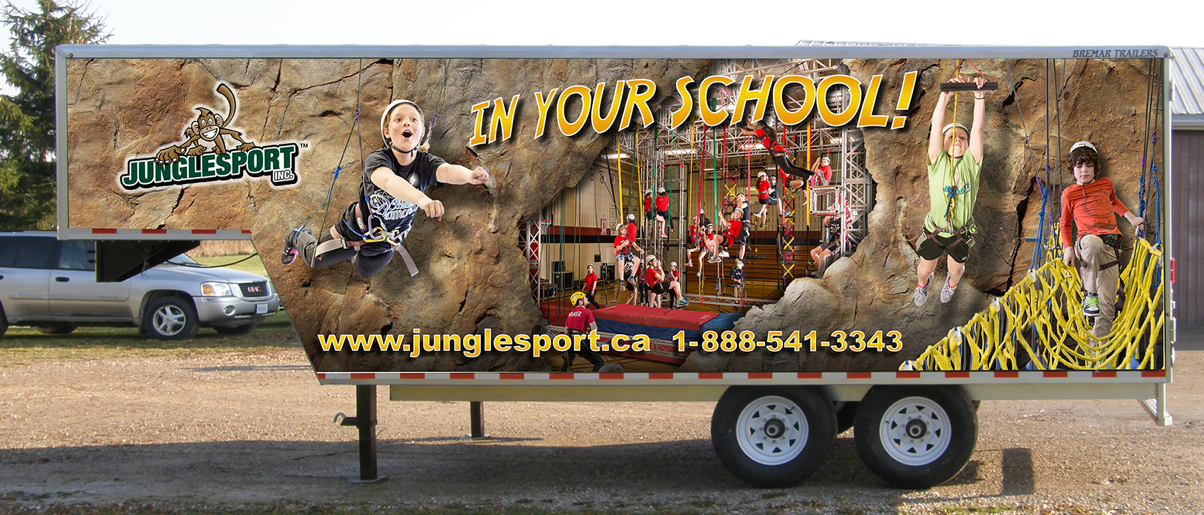 Junglesport Trailer Wrap Design