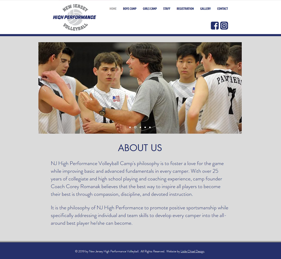NJ HP Volleyball Website Design