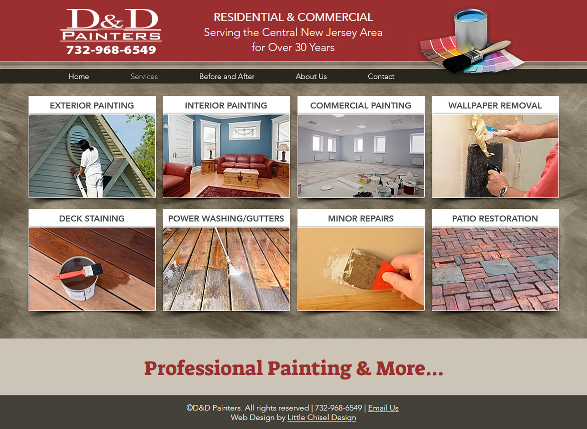 D and D Painters Website Design