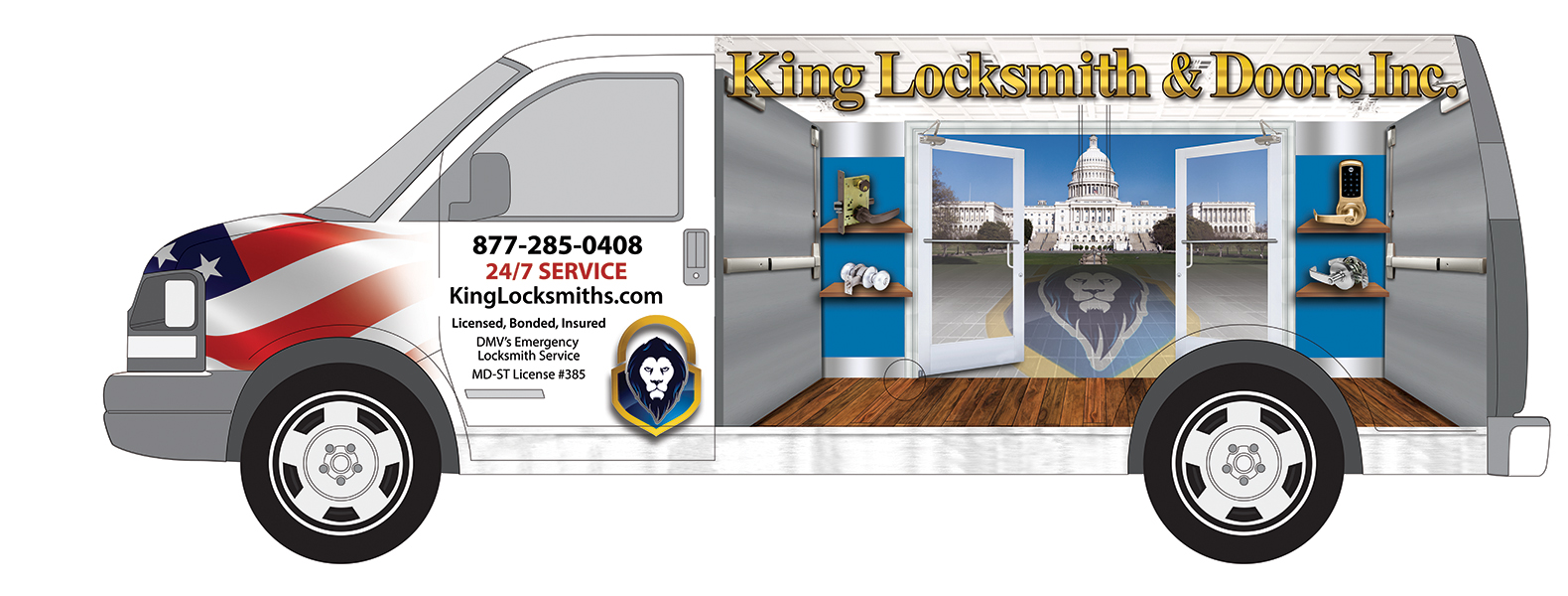 King Locksmith Van Wrap Design