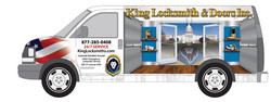 King Locksmith Van Wrap Design