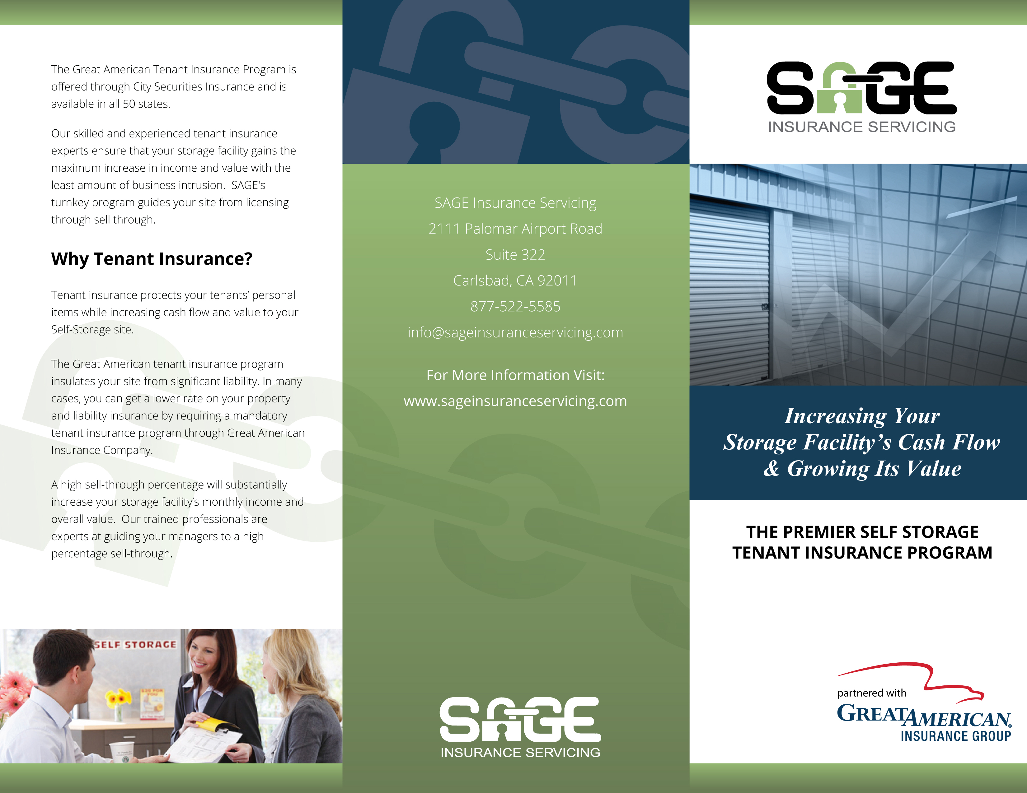 SAGE Insurance Servicing Trifold