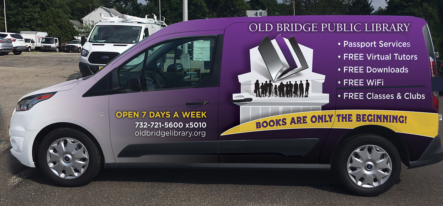 Old Bridge Library Van Wrap Design