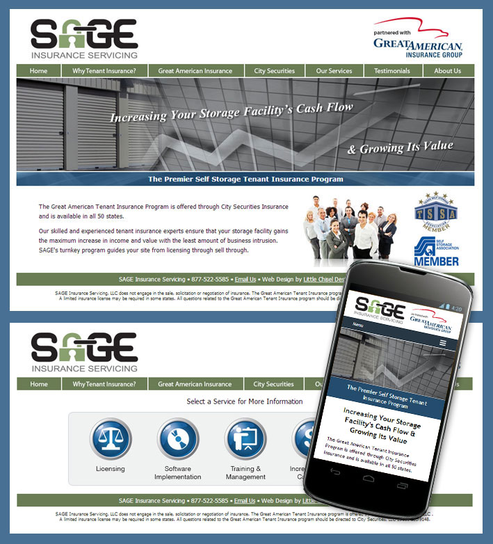 SAGE Insurance Website Design